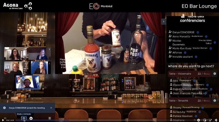 Agora atypic labs bar lounge virtuel