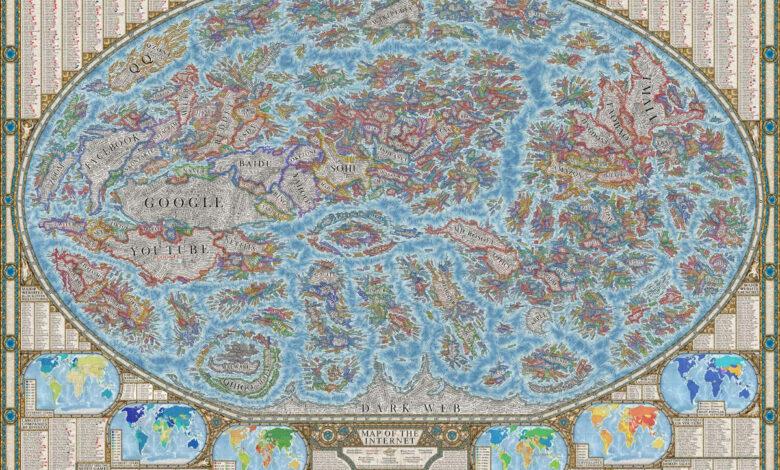 Carte du monde internet Halcyon Maps